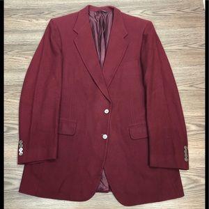 Neiman Marcus Burgundy Cashmere Blazer 42R